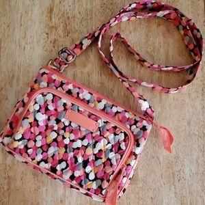 Vera Bradley Pixie Confetti Coral Hipsters purse
